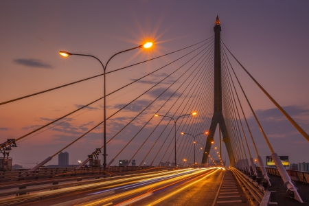 viii: The Rama VIII bridge over the Chao Praya river  Bangkok, Thailand