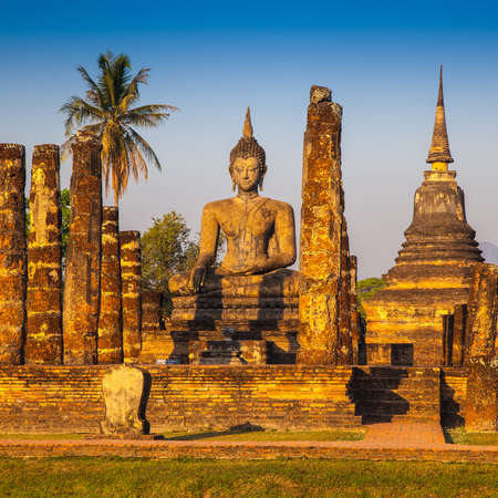 Sukhothai ruin old city country Thailand  photo