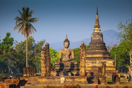 Wat Mahathat in Sukhothai Historical park, Thailand  photo