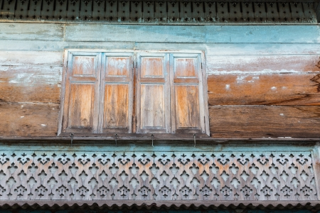 disused: Old Wooden House in Bangkok Thailand
