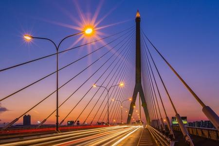 viii: The Rama VIII bridge over the Chao Praya river  Bangkok, Thailand