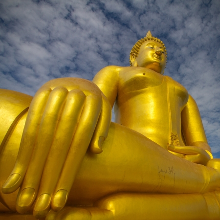A biggest Buddha in Thailand, Ang Thong province  photo