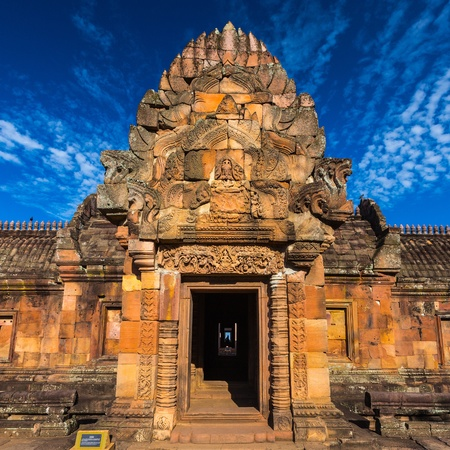sand stone castle, phanomrung in Buriram province, Thailand  Religious buildings constructed by the ancient Khmer art   photo