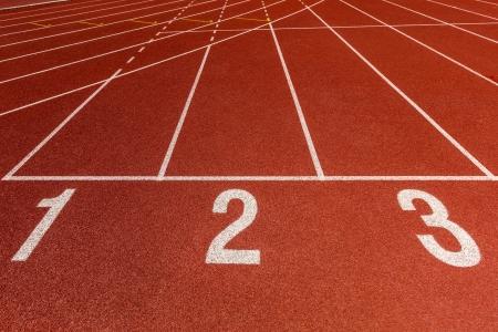 Athletics Track Lane Numbers Stock Photo - 19869226