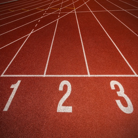 Athletics Track Lane Numbers  photo