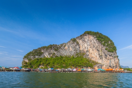 phangnga: Fisherman village at Panyee island, Phang-nga, Thailand  Stock Photo
