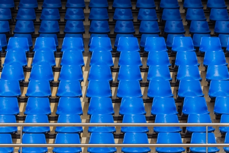 stadium crowd: Seat for watch some sport or football  Stock Photo