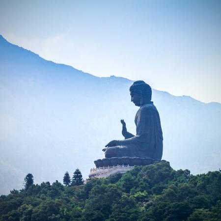 Giant BuddhaPo Lin Monastery in Hong Kong, Lantau Island  photo