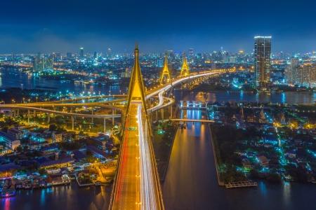 タイのタイ (工業リング道路橋) でプミポン橋。
