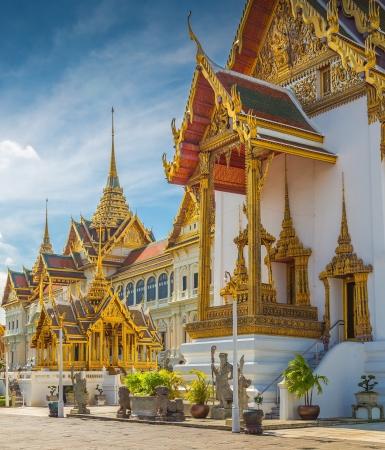 一日の時間のグランドパレス バンコク タイ