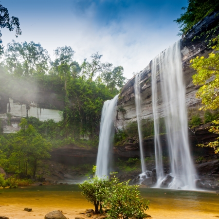 Amazing of Huai Luang Waterfall in Ubon Ratchathani, Thailand  photo