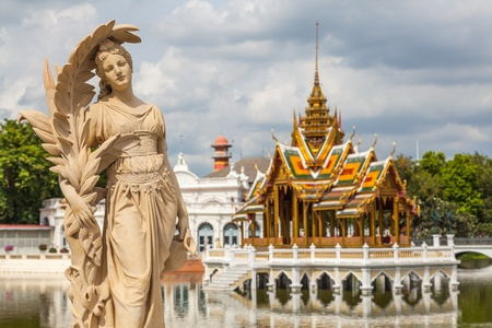 tourist attractions: Bang Pa-in Palace, Thailand. The very beautiful tourist attractions in Thailand.