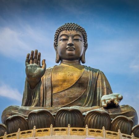Giant Buddha Statue in Tian Tan. Hong Kong, China photo