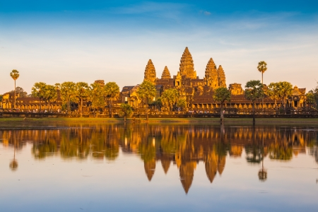 Angkor Wat Temple, Siem reap, Cambodia.  Stock Photo