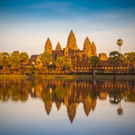 and heritage: Angkor Wat Temple, Siem reap, Cambodia.  Stock Photo
