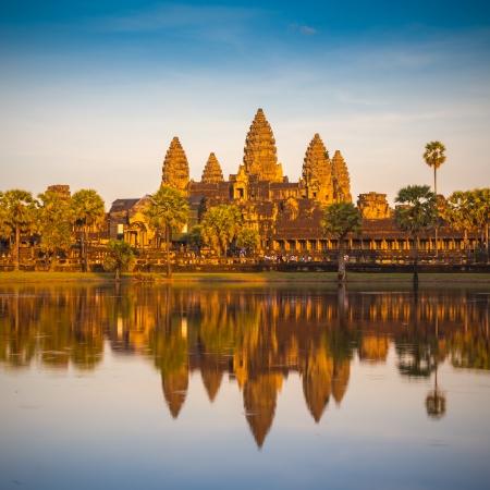 angkor wat: Angkor Wat Temple, Siem reap, Cambodia.  Stock Photo