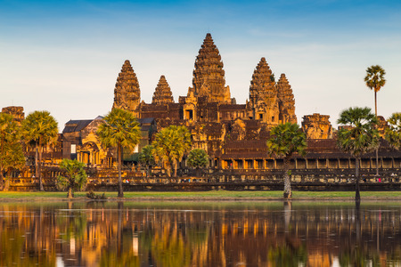 Angkor Wat Temple, Siem reap, Cambodia.  photo