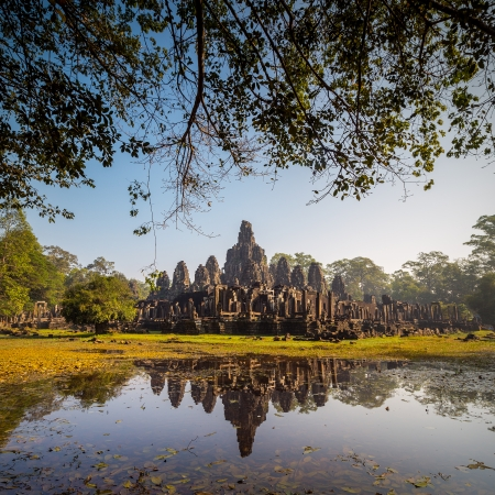 Bayon Temple, Angkor Thom, Siem Reap, Cambodia.  photo