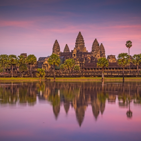 Angkor Wat sunset at Siem Reap. Cambodia  photo