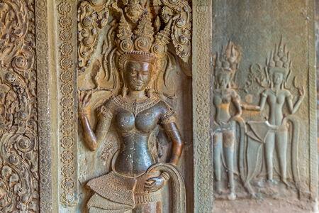 apsara: Apsara sculpture in Angkor Wat,Siem Riep,Cambodia