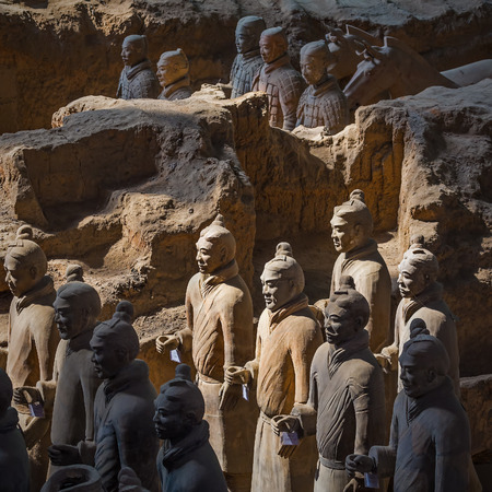 imperialism: Terracotta army warriors in Xian, China  Stock Photo