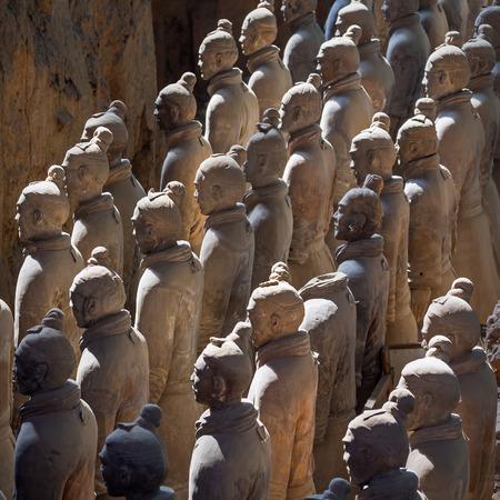 Terracotta army warriors in Xian, China  photo