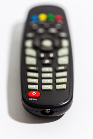 TV remote control focus at Power button photo
