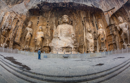 wei: Longmen Grottoes with Buddhas figures are Starting with the Northern Wei Dynasty in 493 AD. It is one of the four notable grottoes in China.