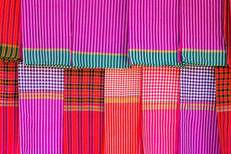 loincloth: Striped loincloth fabric background  Stock Photo