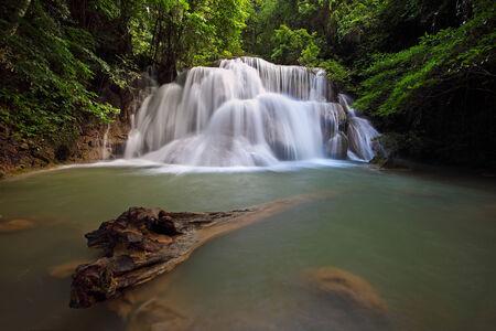 khamin: Deep Forest beautiful waterfall ,Huay Mae Khamin Waterfall ,Thailand