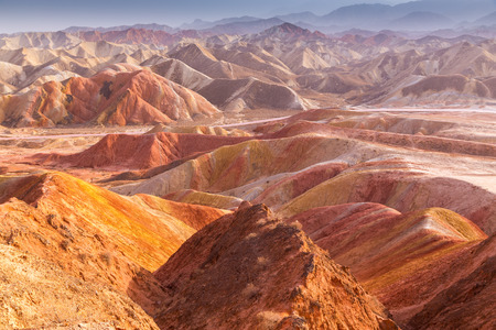 landform: Danxia landform in Zhangye, Gansu of China