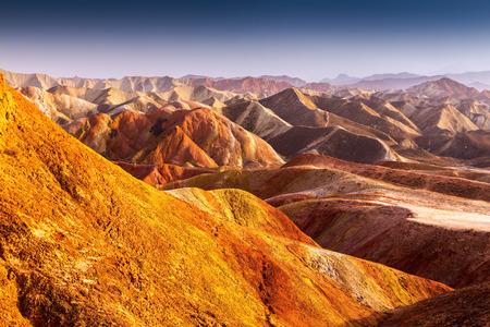 Danxia landform in Zhangye, Gansu of China