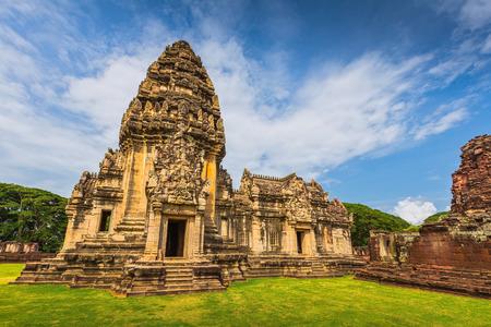 korat: Prasat Hin Phi mai, Historical Park Phimai Khmer Sanctuary,one of important religious sanctuary,korat,thailand  Stock Photo