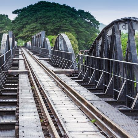 River Kawai Bridge, Kanchanaburi,Thailand  photo