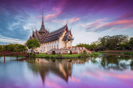 Sanphet Prasat Palace, Ancient City, Bangkok, Thailand  photo