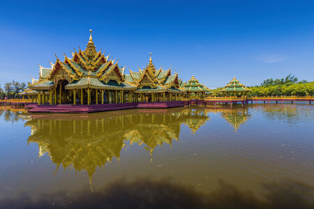 awakened: Enlightened City Hall is located in the ancient city, Samut Prakan,Thailand Stock Photo