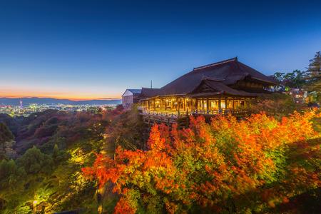 Kiyomizu-dera Temple at twilight