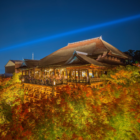 dera: The famed stage at Kiyomizu Dera during the annual fall light show. The temple is one of Japans most celebrated holy sites.
