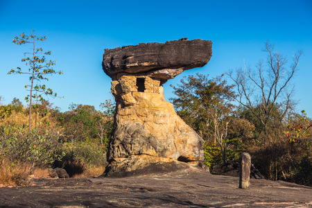 strange stone, phu phra bath , Udonthani , Thailand photo