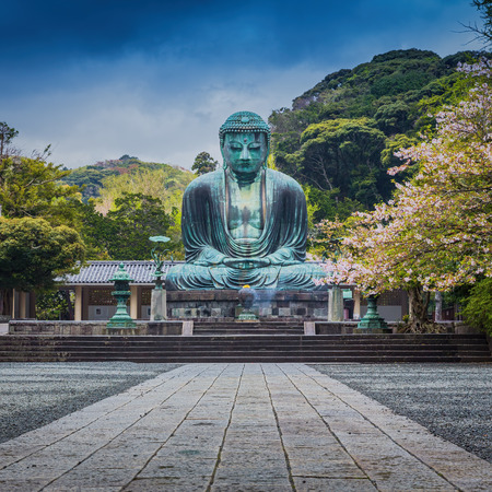 great buddha (Daibutsu) sculpture, Kamakura,japan Stock Photo