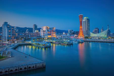 night views: Skyline and Port of Kobe Tower Kansai, Japan