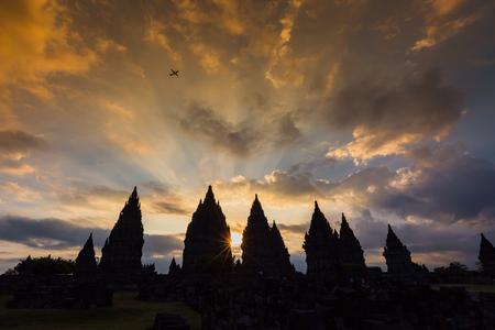 prambanan: Sunset at Prambanan Temple of Yogyakarta