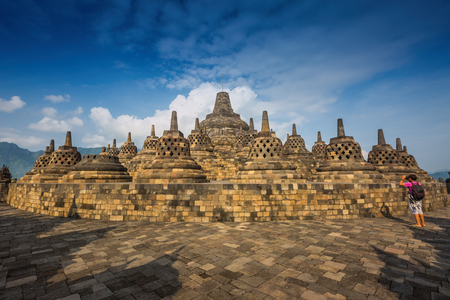 jogjakarta: Borobudur Temple at Yogyakarta, Java, Indonesia.