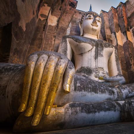 Fingers of Buddha Sukhothai. Sukhothai Historical Park, Wat Si Chum, Sukhothai, Thailand Imagens