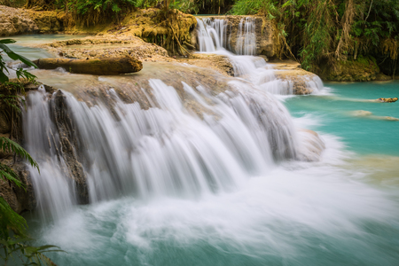 Kuang Si Waterfall, Luang prabang, Laos Imagens