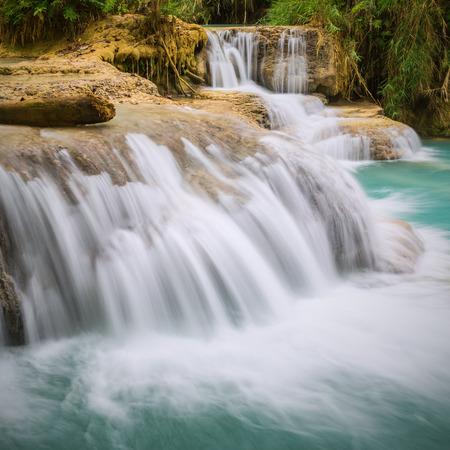 Kuang Si Waterfall, Luang prabang, Laos Stock Photo