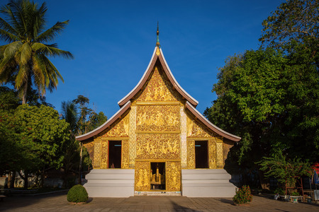 Wat Xieng Thong, The most important buddhist temple in Luang Prabang, Laos. Editorial