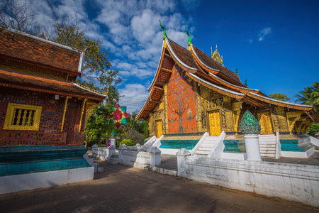 Wat Xieng Thong, The most important buddhist temple in Luang Prabang, Laos. Imagens