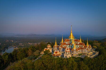 Wat Tang Sai. Beautiful temple on the top of Thongchai mountain, Prachuap Khirikhan, Thailand.
