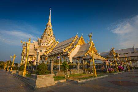 Wat Sothon Wararam Worawihan temple in Chachoengsao Province, Thailand Editorial